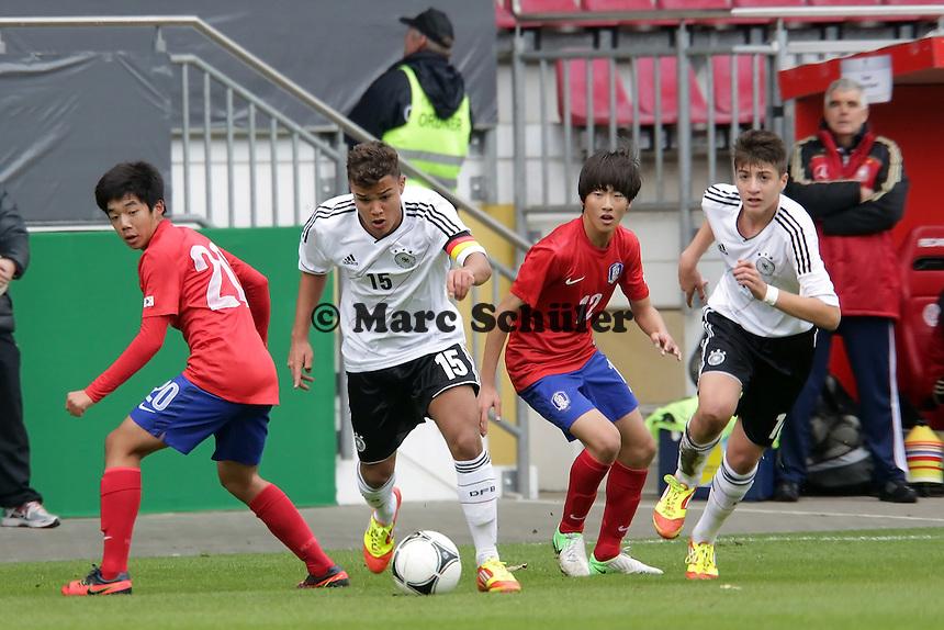 Nelson Schulz-Fademrecht (D, Hertha BSC Berlin) und Georgios Spanoudakis (D, FC Barcelona, aus Rüsselsheim) gegen Yongeon Lee und Sanghee Kang (SKOR)
