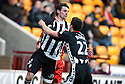 07/02/2009  Copyright Pic: James Stewart.File Name : sct_jspa05_motherwell_v_stmirren.ANDY DORMAN CELEBRATES WITH STEPHEN MCGINN AFTER HE SCORES ST MIRREN'S FIRST.James Stewart Photo Agency 19 Carronlea Drive, Falkirk. FK2 8DN      Vat Reg No. 607 6932 25.Studio      : +44 (0)1324 611191 .Mobile      : +44 (0)7721 416997.E-mail  :  jim@jspa.co.uk.If you require further information then contact Jim Stewart on any of the numbers above.........