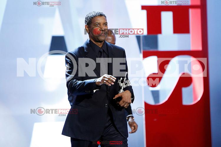 US actor Denzel Washington receives the Donostia Award during the 62st San Sebastian Film Festival in San Sebastian, Spain. September 19, 2014. (ALTERPHOTOS/Caro Marin) /NortePhoto.com /NortePhoto.com