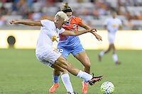 Houston, TX - Saturday July 30, 2016: Lianne Sanderson, Amber Brooks during a regular season National Women's Soccer League (NWSL) match between the Houston Dash and the Western New York Flash at BBVA Compass Stadium.
