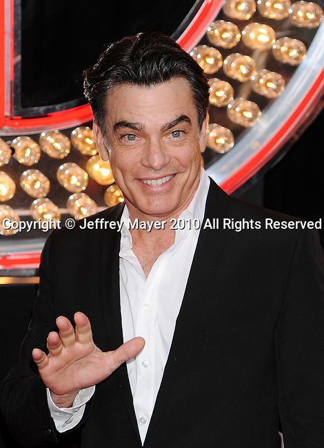 "HOLLYWOOD, CA. - November 15: Peter Gallagher. arrives at the Los Angeles ""Burlesque"" Premiere at Grauman's Chinese Theatre on November 15, 2010 in Hollywood, California."
