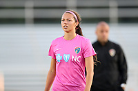 Cary, North Carolina  - Saturday September 09, 2017: Ashley Hatch prior to a regular season National Women's Soccer League (NWSL) match between the North Carolina Courage and the Houston Dash at Sahlen's Stadium at WakeMed Soccer Park. The Courage won the game 1-0.