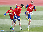 Spain's Jordi Alba (l), Nacho Fernandez (c) and Gerard Pique during training session. March 21,2017.(ALTERPHOTOS/Acero)
