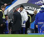 Chelsea's Diego Costa walks past manager Jose Mourinho<br /> <br /> Barclays Premier League - Chelsea v AFC Bournemouth - Stamford Bridge - England - 5th December 2015 - Picture David Klein/Sportimage