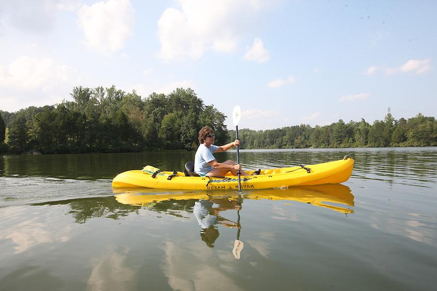 Kayaking in Albemarle County, Va.