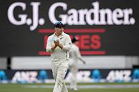 1st December 2019, Hamilton, New Zealand;  Tom Latham applauds his team mates. International test match cricket, New Zealand versus England at Seddon Park, Hamilton, New Zealand. Sunday 1 December 2019.