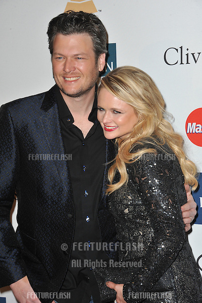 Blake Shelton & Miranda Lambert at the 2012 Clive Davis Pre-Grammy Party at the Beverly Hilton Hotel, Beverly Hills..February 11, 2012  Los Angeles, CA.Picture: Paul Smith / Featureflash