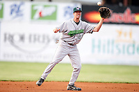 July 24, 2009:  Shortstop Chris Wade of the Jamestown Jammers during a game at Russell Diethrick Park in Batavia, NY.  The Jammers are the NY-Penn League Short-Season Single-A affiliate of the Florida Marlins.  Photo By Mike Janes/Four Seam Images