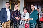 Aidan O'Mahony, Sinead Haely-Nomikos Bridget Richardson and O'Mahony at the fashion show in the Muckross Park hotel in aid of Crumlin hospital