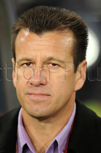 Carlos Dunga, coach of Brazil attends the 2010 FIFA World Cup soccer match between Brazil and Chile at Ellis Park Stadium on June 28, 2010 in Johannesburg, South Africa.