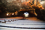 Auditorium concert hall theatre in volcanic lava tube tunnel, Jameos de Agua, Lanzarote, Canary Islands, Spain