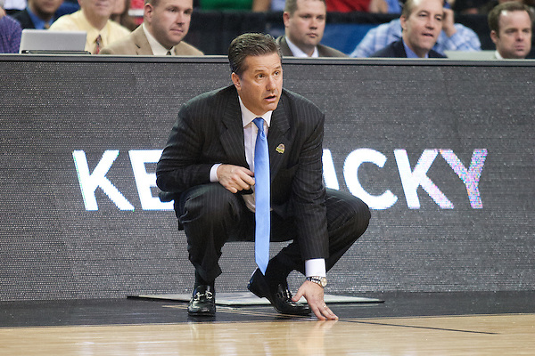Kentucky Wildcats head coach John Calipari. Kentucky faced Indiana during the Sweet 16 round of the 2012 NCAA Tournament at the Georgia Dome in Atlanta,  March 23, 2012. Photo by Derek Poore