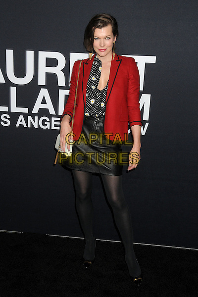 10 February 2016 - Los Angeles, California - Milla Jovovich. Saint Laurent At The Palladium held at the Hollywood Palladium. <br /> CAP/ADM/BP<br /> &copy;BP/ADM/Capital Pictures