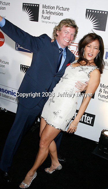 LOS ANGELES, CA. - November 08: Producer Nigel Lythgoe and Actress/Dancer Carrie Ann InabaNigel Lythgoe and Carrie Ann Inaba .Nigel Lythgoe and Carrie Ann Inaba  arrive at The 4th Annual A Fine Romance to Benefit The Motion Picture & Televison Fund at Sony Pictures Studios on November 8, 2008 in Culver City, California.