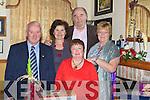 FUNDRAISER: Attending the fiundraiser for Recovery Havan,Haigs Terrace, Tralee dance in Darby O'Gills, Killarney on Sunday, L-r: John Joe Herlihy, Mary Shanahan, Barney barnes, Phyllis McLoughlin and Ann Kelly........ ..........