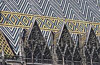 Europe/Autriche/Niederösterreich/Vienne: Les toits de la cathédrale
