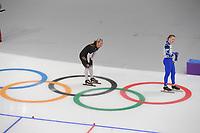 OLYMPIC GAMES: PYEONGCHANG: 10-02-2018, Gangneung Oval, Long Track, 3000m Ladies, Claudia Pechstein (GER), Natalia Voronina (OAR), ©photo Martin de Jong