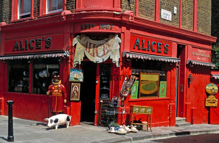 England, London: 86 Portobello Road, Alice's Antiques | United Kingdom, London: 86 Portobello Road, Alice's Antiques