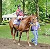 Thunder Strike before The Nick Shuk Memorial Stakes at Delaware Park racetrack on 7/10/14
