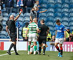 01.09.2019 Rangers v Celtic: Jordan Jones sent off