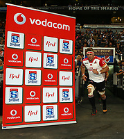 Jaco Kriel (captain) of the Emirates Lions during the Vodacom Super Rugby match between the Cell C Sharks and the Emirates Lions the at Growthpoint Kings Park in Durban, South Africa. 15th July 2017(Photo by Steve Haag)