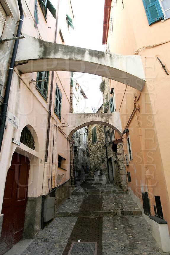 Uno scorcio della Pigna, centro storico di Sanremo.<br /> View of La Pigna old town in Sanremo.<br /> UPDATE IMAGES PRESS/Riccardo De Luca