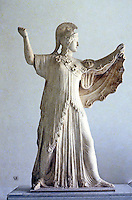 Greek Art:   Athena, Goddess of War.   National Museum, Naples.  Photo '83.
