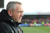 Blackpool manager Neil Critchley <br /> <br /> Photographer Kevin Barnes/CameraSport<br /> <br /> The EFL Sky Bet League One - Fleetwood Town v Blackpool - Saturday 7th March 2020 - Highbury Stadium - Fleetwood<br /> <br /> World Copyright © 2020 CameraSport. All rights reserved. 43 Linden Ave. Countesthorpe. Leicester. England. LE8 5PG - Tel: +44 (0) 116 277 4147 - admin@camerasport.com - www.camerasport.com