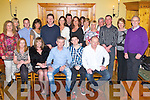 BIRTHDAY BOY: Dennis Clifford, London originally St Brendan's Park, Tralee (seated centre) enjoying a great time celebrating his 50th birthday with family and friends at Stokers Lodge restaurant and bar, Tralee on Friday...
