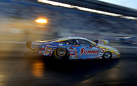 Apr 7, 2006; Las Vegas, NV, USA; NHRA Pro Stock driver Jason Line launches in the Summit Racing Pontiac GTO during qualifying for the Summitracing.com Nationals at Las Vegas Motor Speedway in Las Vegas, NV. Mandatory Credit: Mark J. Rebilas