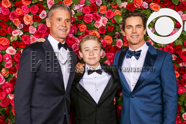 NEW YORK, NY - JUNE 10:  (L-R) Simon Halls, Kit Halls and Matt Bomer attend the 72nd Annual Tony Awards at Radio City Music Hall on June 10, 2018 in New York City.  (Photo by Walter McBride/WireImage)