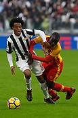 5th November 2017, Allianz Stadium, Turin, Italy; Serie A football, Juventus versus Benevento; Berat Djimsiti challenges Juan Cuadrado