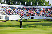 Robert Dinwiddie (ENG) on the 18th during round 3 of the 2016 BMW PGA Championship. Wentworth Golf Club, Virginia Water, Surrey, UK. 28/05/2016.<br /> Picture Fran Caffrey / Golffile.ie<br /> <br /> All photo usage must carry mandatory copyright credit (© Golffile   Fran Caffrey)