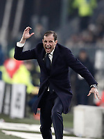Calcio, Serie A: Juventus - AS Roma, Torino, Allianz Stadium, 23 dicembre, 2017. <br /> Juventus' coach Massimiliano Allegri gestures during the Italian Serie A football match between Juventus and Roma at Torino's Allianz stadium, December 23, 2017.<br /> UPDATE IMAGES PRESS/Isabella Bonotto