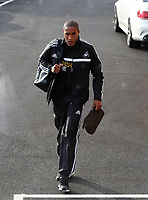 Wednesday 07 August 2013<br /> Pictured: Team captain Ashley Williams departing from the Swansea Training ground.  <br /> Re: Swansea City FC travelling to Sweden for their Europa League 3rd Qualifying Round, Second Leg game against Malmo.