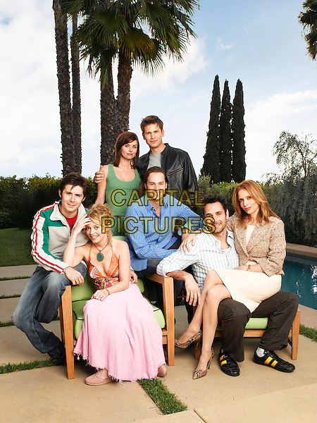 POLLY SHANNON, MATTHEW DAVIS, RICK GOMEZ, AMANDA DETMER, BARRY WATSON, RAOUL BOVA & ROSANNA ARQUETTE.in What About Brian.*Editorial Use Only*.www.capitalpictures.com.sales@capitalpictures.com.Supplied by Capital Pictures.