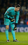 Thibaut Courtois of Chelsea  - English Premier League - Leicester City vs Chelsea - King Power Stadium - Leicester - England - 14th December 2015 - Picture Simon Bellis/Sportimage