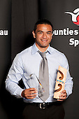 Sportsman of the Year winner Sherwin Stowers. Counties Manukau Sport Sporting Excellence Awards held at Testra Clear Pacific Events Centre, Manukau, on Thursday 9th December 2010.