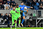 01.12.2018, wirsol Rhein-Neckar-Arena, Sinsheim, GER, 1 FBL, TSG 1899 Hoffenheim vs FC Schalke 04, <br /> <br /> DFL REGULATIONS PROHIBIT ANY USE OF PHOTOGRAPHS AS IMAGE SEQUENCES AND/OR QUASI-VIDEO.<br /> <br /> im Bild: Haji Wright (FC Schalke 04 #40) gegen Florian Grillitsch (TSG 1899 Hoffenheim #11)<br /> <br /> Foto © nordphoto / Fabisch