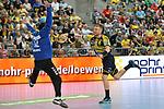 Rhein Neckar Loewe Gudjon Valur Sigurdsson (Nr.9) gegen Wetzlars Benjamin Buric beim Spiel in der Handball Bundesliga, Rhein Neckar Loewen - HSG Wetzlar.<br /> <br /> Foto &copy; PIX-Sportfotos *** Foto ist honorarpflichtig! *** Auf Anfrage in hoeherer Qualitaet/Aufloesung. Belegexemplar erbeten. Veroeffentlichung ausschliesslich fuer journalistisch-publizistische Zwecke. For editorial use only.