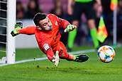 30th January 2019, Camp Nou, Barcelona, Spain; Copa del Rey football, quarter final, second leg, Barcelona versus Sevilla; Juan Soriano of Sevilla CF is beaten by the penalty of Philippe Coutinho of FC Barcelona in 13th minute for 1-0