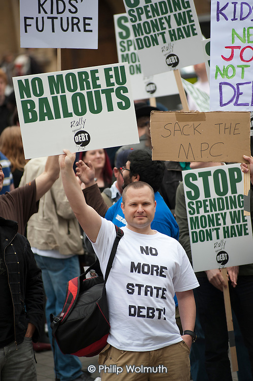 No More State Debt. The Taxpayers Alliance Rally against Debt, Westminster.