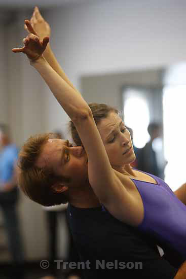 """Kurt Bestor conducts a rehearsal of """"Dreams of the Valley"""" for Ballet West's """"The Dream."""" Thursday, October 15 2009 in Salt Lake City."""