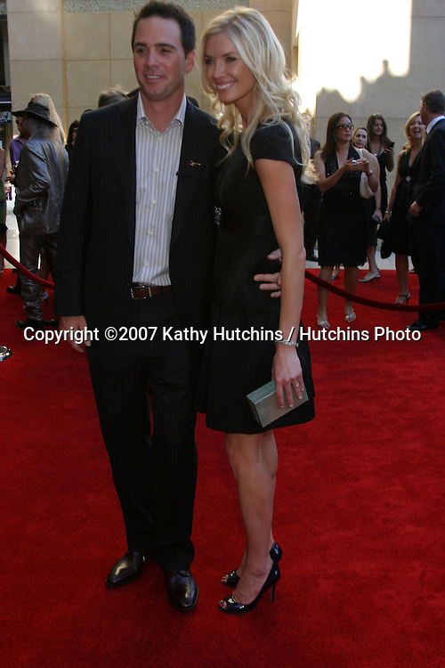 Jimmie Johnson & Wife.ESPY Awards 2007.Kodak Theater.Los Angeles, CA.July 11, 2007.©2007 Kathy Hutchins / Hutchins Photo....