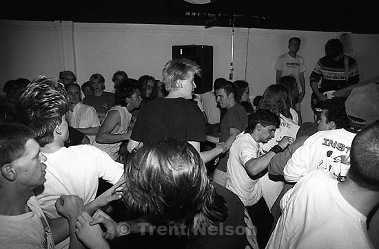 Slamdancers at the Stench at Reptile Records.<br />