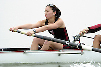 REDWOOD SHORES, CA - JANUARY 2002:  Wei-Li Chang of the Stanford Cardinal during practice in January 2002 in Redwood Shores, California.