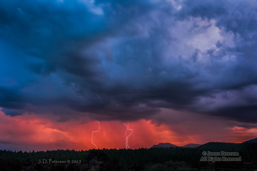 Lightning over Mount Elden