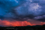 Lightning over Mount Elden