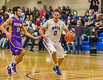 22 November 2015: Yeshiva University Maccabee Forward Michael Berg, a Junior from New York, NY, in second half action against the Hunter College Hawks at the Max Stern Athletic Center  in New York, NY. The Maccabees defeated the Hawks 81-71 in non-conference play, for their second win of the season. Mandatory Credit: Ed Wolfstein Photo *** RAW (NEF) Image File Available ***