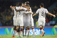 Germany's players celebrate goal during international friendly match.November 18,2014. (ALTERPHOTOS/Acero) /NortePhoto<br />